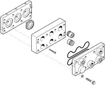 D03 Hydra-Cell pump head components