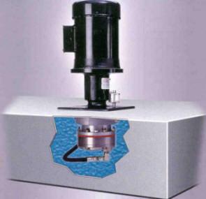 illustration of Hydsra-Cell model D12 pump installed