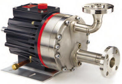 H25 Hydra-Cell Pump with 316SS ANSI flanged connections