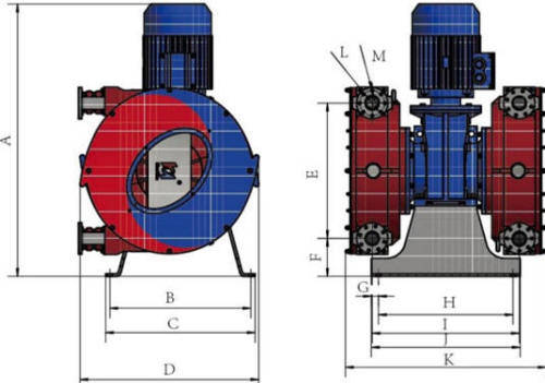 Hefei Huayun IHP265-IHP2100Z Dimensions