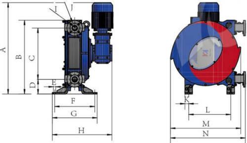 Hefei Huayun IHP40-IHP65Z Dimensions