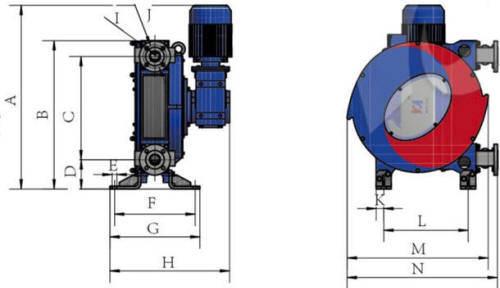 Hefei Huayun IHP80-IHP100Z Dimensions