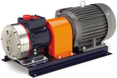 Flex Coupled Pump and Motor using Coupling Guard