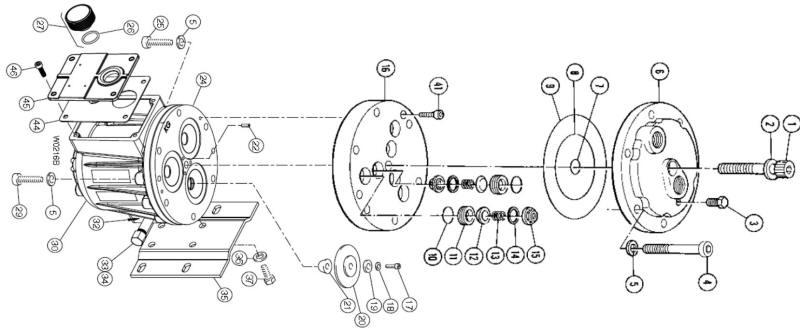 Hydra-Cell Pump liquid end components