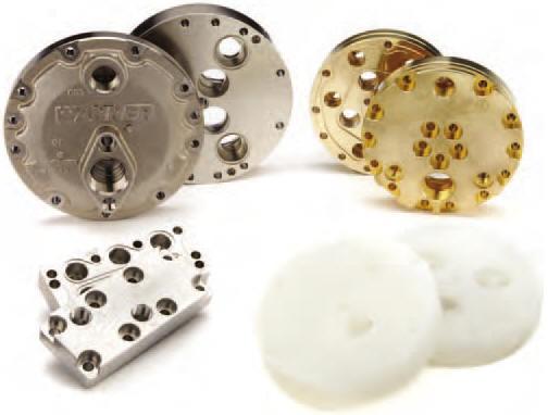 Hydra-Cell pump head materials