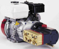 M23 Hydra-Cell pump driven with Honda engine