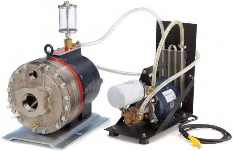 D35 Hydra-Cell pump with oil cooling system