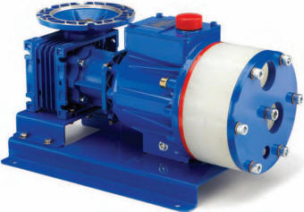 P400 hydra cell metering pump with pvdf pump head