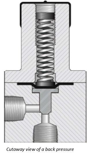 back pressure valve design