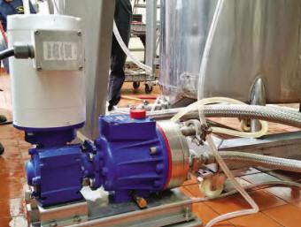 P400 metering pump for spray drying food flavors
