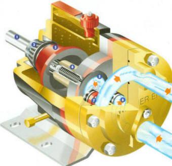 cutaway of a hydra-cell pump