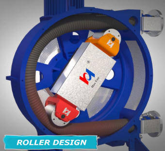 Rotating roller peristaltic pump design